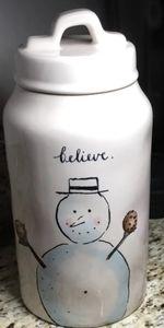 Rae Dunn Snowman canister